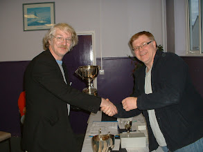 Photo: Peter Richmond of Brown Jack receives the 2009-10 Wiltshire Individual Championship Trophy.