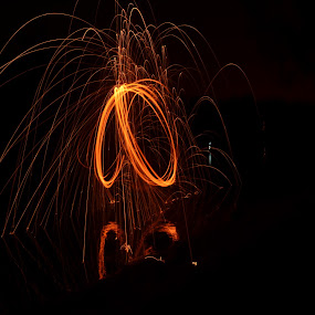 eye circle by P A - Abstract Light Painting ( painting, painting with light, fire, lamp, circle )