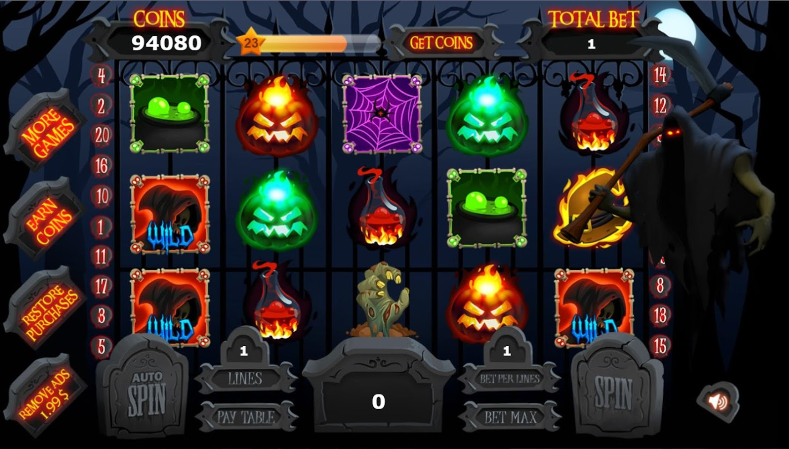 play vibrant 7 slot machine