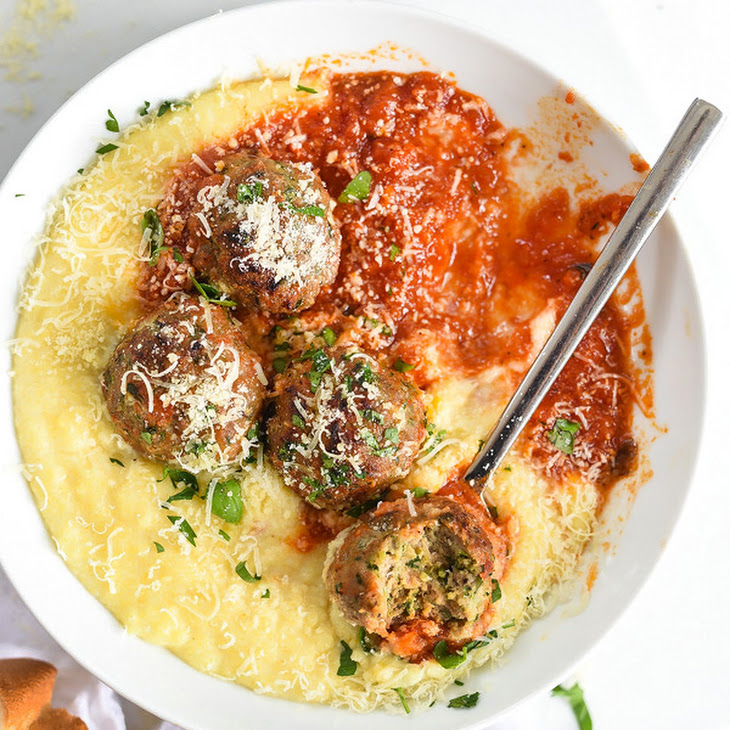 ... And Porcini Meatballs With Rosemary And Polenta Recipe — Dishmaps