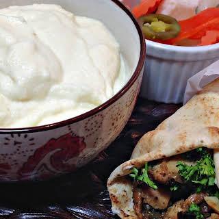 Toum Lebanese Garlic Sauce.