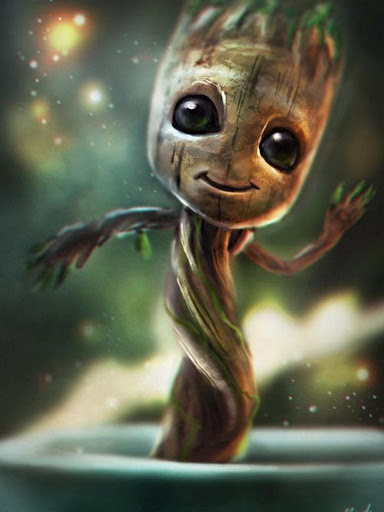 Download Baby Groot Lovely Wallpapers On Pc Mac With