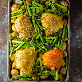 Oven Baked Chicken Thighs {a one-pan meal}