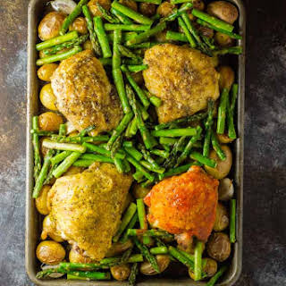 Oven Baked Chicken Thighs {a one-pan meal}.