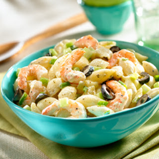 Final Lap Macaroni Salad With Shrimp.