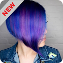Hair coloring icon
