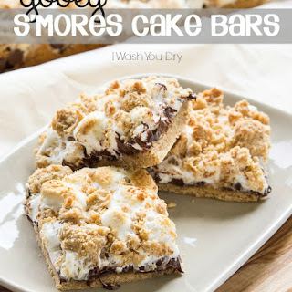 Gooey S'mores Cake Bars.