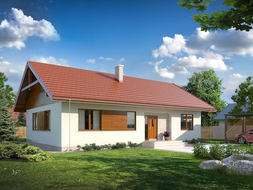Projekt domu Abra drewniana