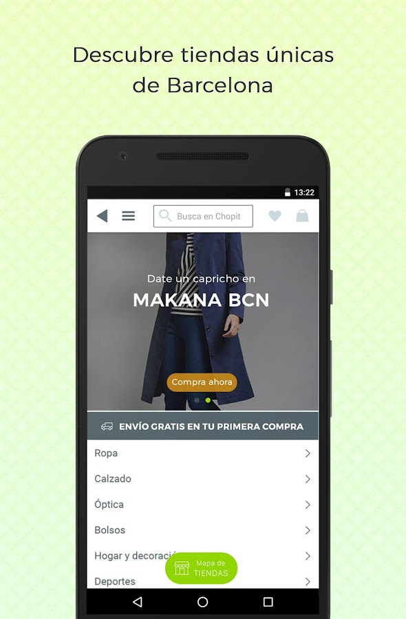 Chopit: Find unique stores in Barcelona- screenshot
