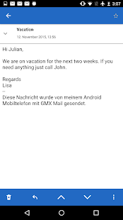 GMX Mail- screenshot thumbnail
