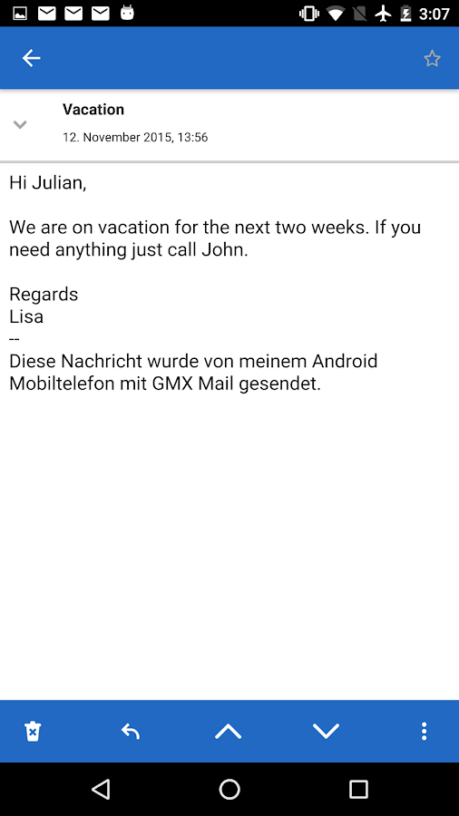 GMX Mail- screenshot