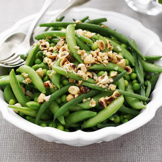 Peas and Beans with Hazelnuts