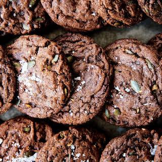 Chocolate Chunk–Pumpkin Seed Cookies.