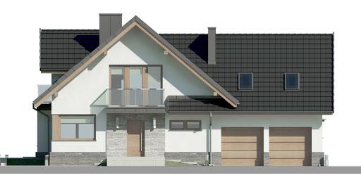 Dom przy Cyprysowej 15 K6 - Elewacja przednia