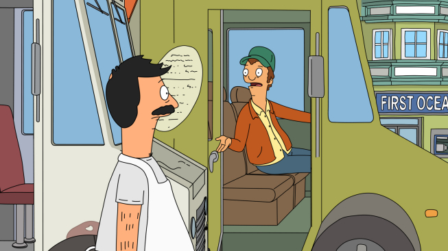 """Photo: BOB'S BURGERS: Randy encourages Bob to park his food truck at """"Lolla-Pa-Foods-A-Festival,"""" in the all-new """"Food Truckin'"""" episode of BOB'S BURGERS airing Sunday, April 15 (8:30-9:00 PM ET/PT) on FOX.  BOB'S BURGERS ™ and © 2012 TCFFC ALL RIGHTS RESERVED."""