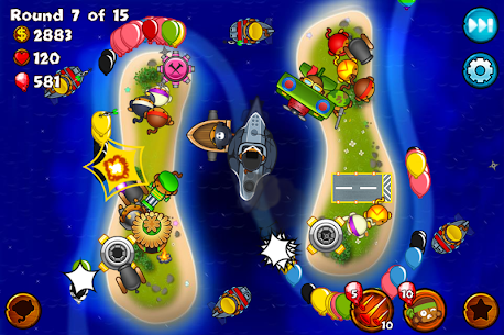 Bloons Monkey City Apk + Mod (Gold) for Android 2