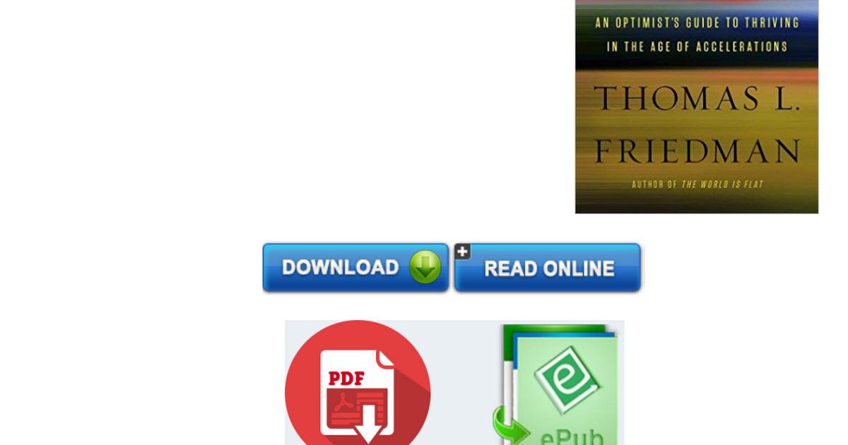 the world is flat thomas friedman pdf español