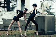 Fashion editorial featuring looks from Dundas and No 21.