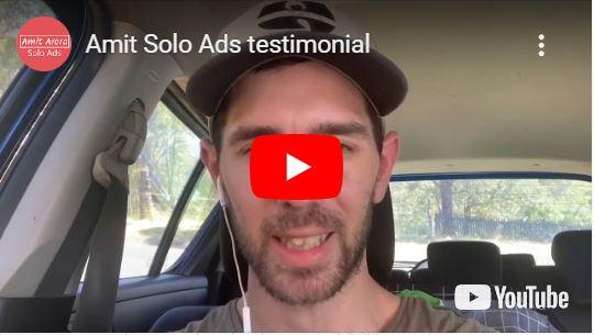 Amit Solo Ads Testimonial by John