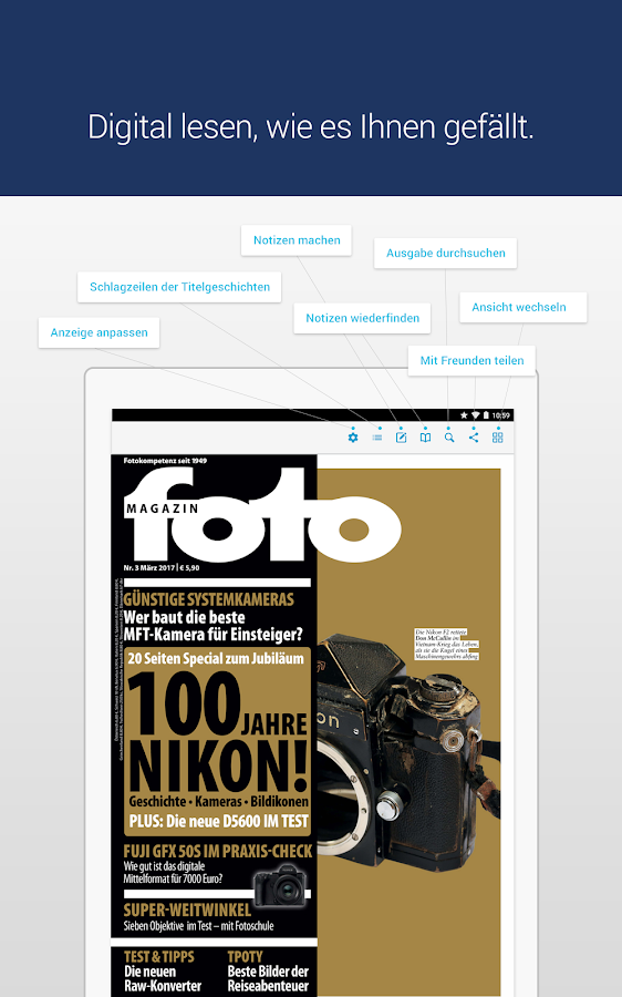 fotoMAGAZIN · epaper- screenshot