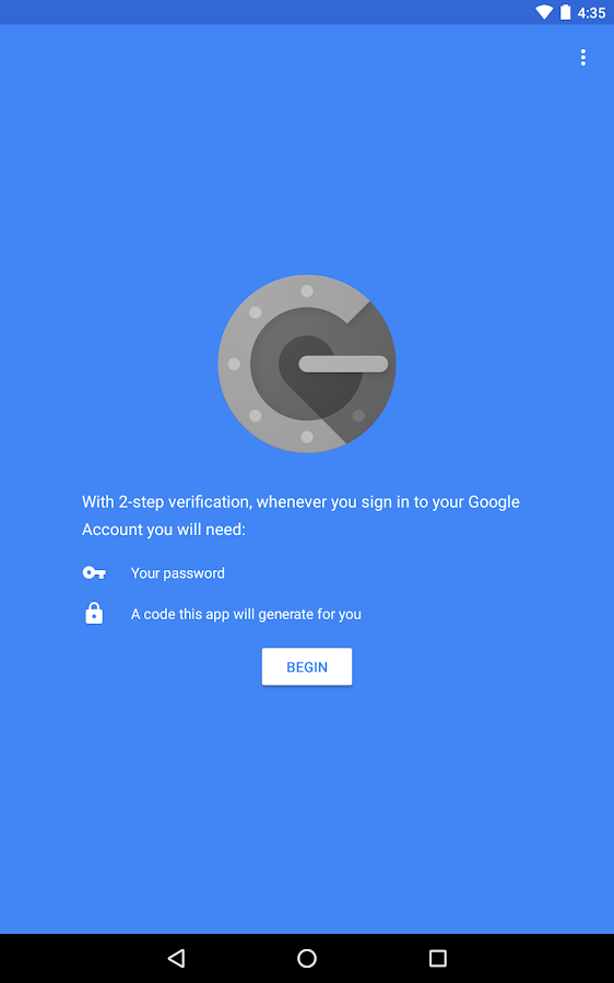 Google Authenticator- screenshot