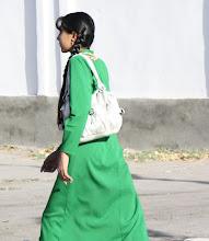 Photo: Day 161 - Beautiful Schoolgirl in Emerald Green Dress