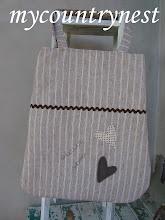 Photo: shopper chocolate bag puro lino