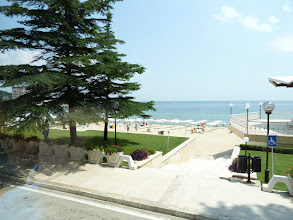 Photo: A Soviet Commissar's dream - Bulgaria's elegant Sunny Day resort at Varna on the Black Sea.