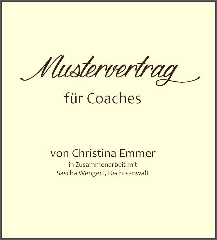 Mustervorlage Coachingvereinbarung