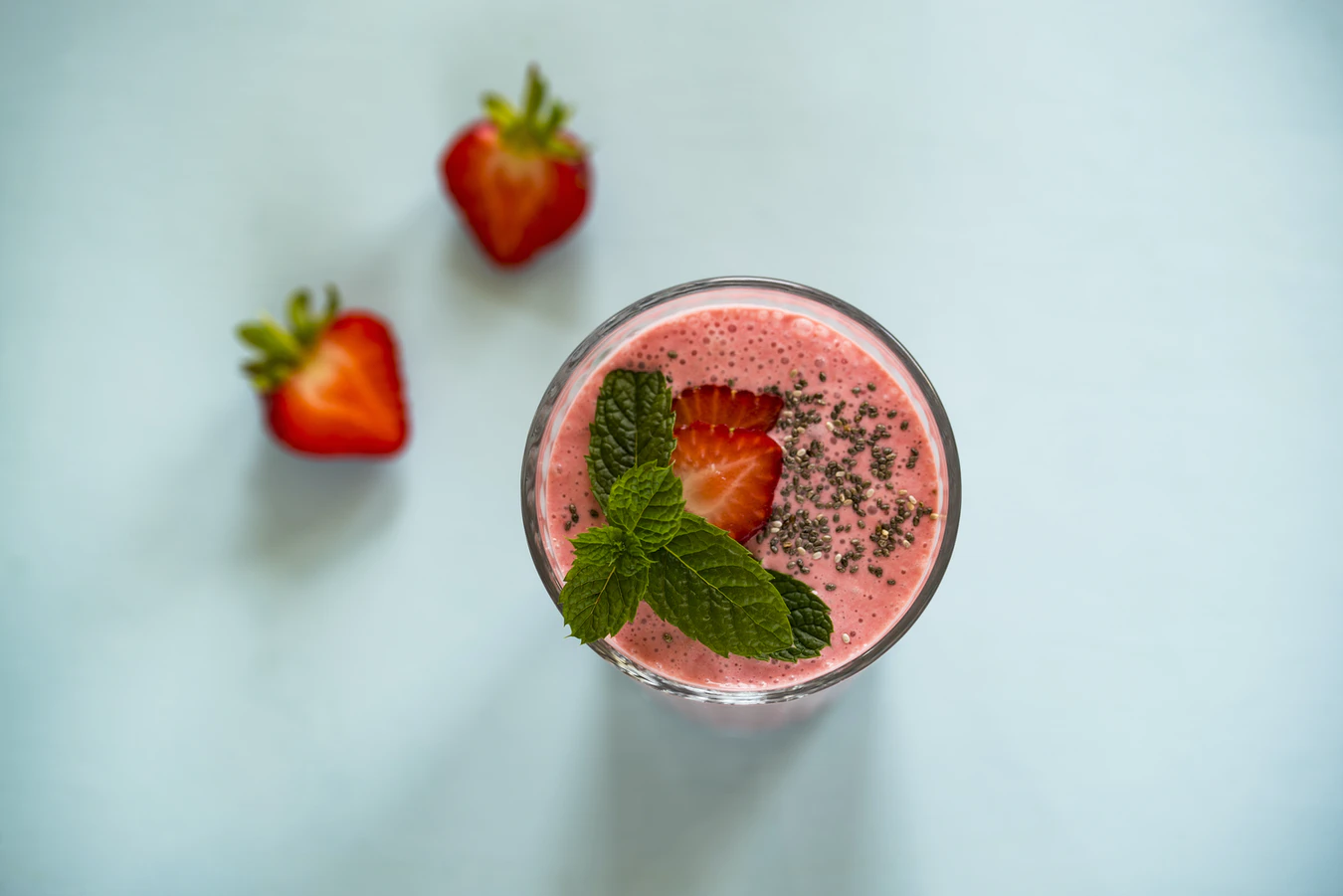 Milkshake with Strawberry