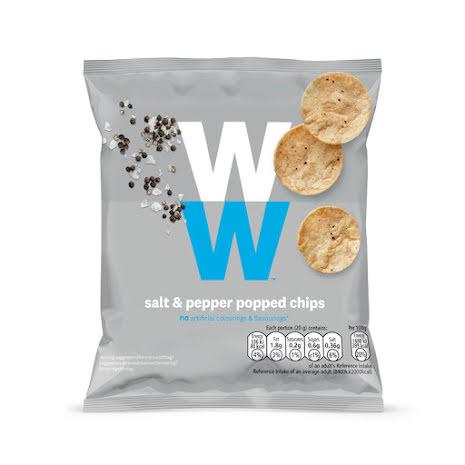 Chips med smak av salt och peppar
