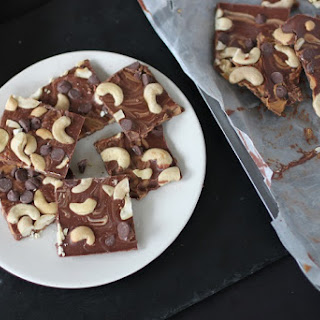 Cashew Chocolate Chip Peanut Butter Bark Swirl