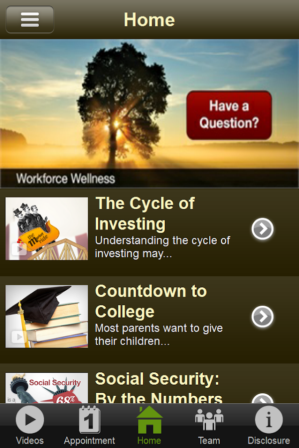Workforce Wellness- screenshot