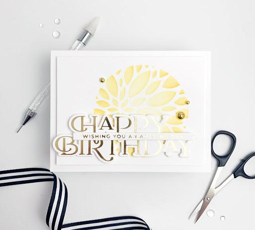 Happy Birthday {Spellbinders}...