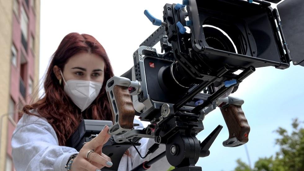 Práctica de rodaje en la Semana del Cine de EISO.