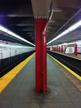 Photo: Empty Subway Station. Turns out, we were standing at the wrong end of the platform.