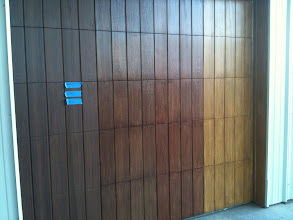 Photo: Cedar Park Overhead Doors Demo Door with multiple finishes. Available for viewing at 2507 S Bell Blvd. Cedar Park TX 78613. 512-335-7441