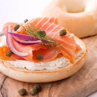 Bagel with Cream Cheese and Smoked Salmon Recipe