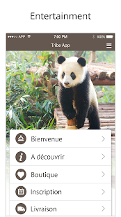 Tribe App - náhled