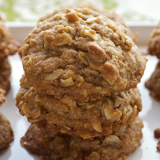 Toffee Almond Oatmeal Cookies.