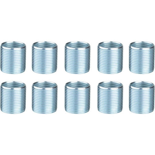 "Unior Proprietary Crank Repair Pedal Thread Inserts for Left Crankarm, 9/16"": 10 Pack, Silver"