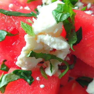 Feta & Balsamic Watermelon Salad