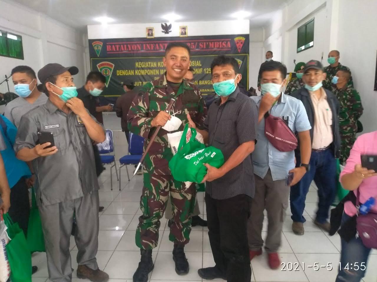 Batalyon Infanteri 125/SMB Gelar Komsos Bersama Insan Pers