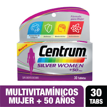 **Centrum For Women   +50Años Multivitaminico x 30Tab