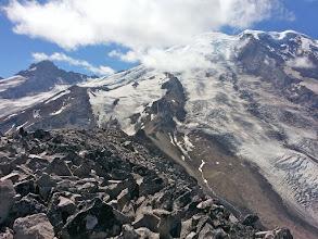 Photo: Mardi is the tiny speck on the ridge.