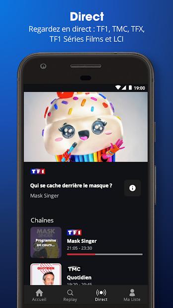 MYTF1 Android App Screenshot