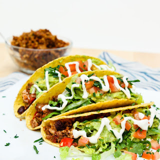 Loaded Black Bean Tofu Tacos with Walnut Crumble