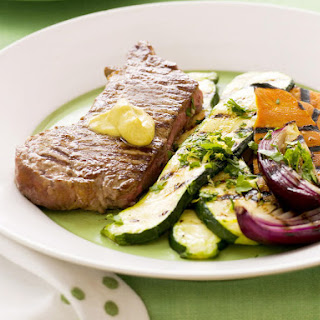 Grilled Steak and Vegetables with Gremolata.