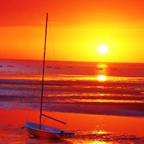Heaven Over the Bay by Kathlene Moore - Landscapes Sunsets & Sunrises (  )