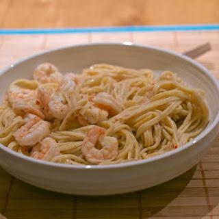 Fresh Chilli Pasta with Garlic Butter Prawns